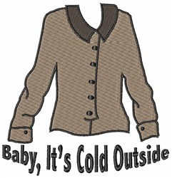 Its Cold Outside embroidery design