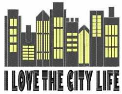 Love The City embroidery design