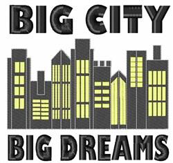 Big City Big Dreams embroidery design