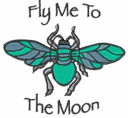Fly Me To The Moon embroidery design