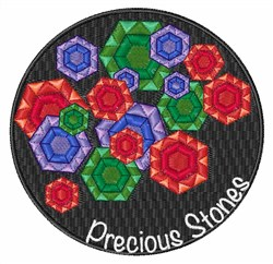Precious Stones embroidery design