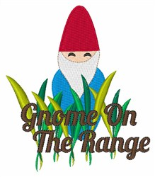 Gnome On The Range embroidery design