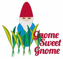 Gnome Sweet Gnome embroidery design
