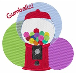 Gumballs embroidery design
