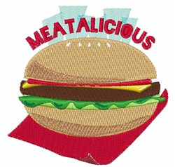 Meatalicious embroidery design