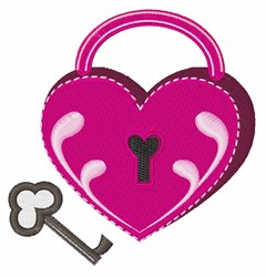 Heart Lock And Key embroidery design