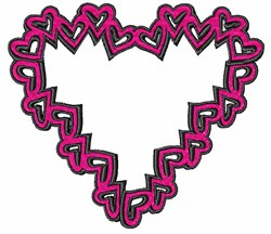 Heart Shape embroidery design