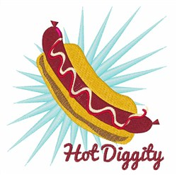 Hot Diggity embroidery design