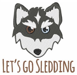 Lets Go Sledding embroidery design