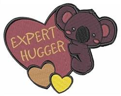 Expert Hugger embroidery design