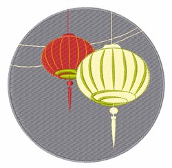 Chinese Lantern embroidery design