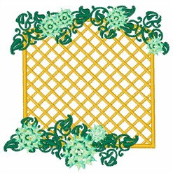 Floral Trellis embroidery design