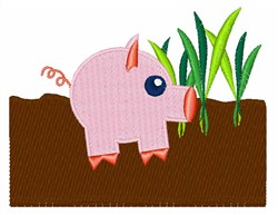 Piggie embroidery design