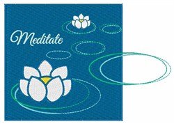 Meditate embroidery design