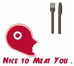 Nice To Meat You embroidery design