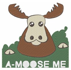 A-Moose Me embroidery design
