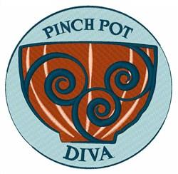 Pinch Pot Diva embroidery design