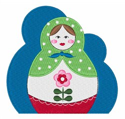 Nesting Dolls embroidery design