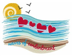 Waves Of Contentment embroidery design