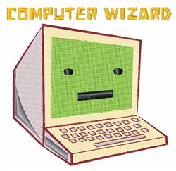 Computer Wizard embroidery design