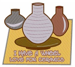 Wheel Love For Ceramics embroidery design