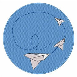 Paper Airplane embroidery design