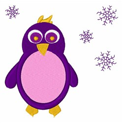 Snow Penguin embroidery design
