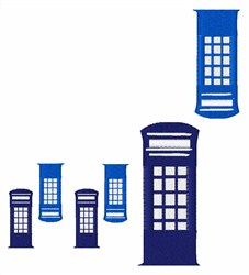 Phone Booth embroidery design