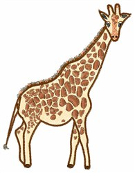 Giraffe embroidery design