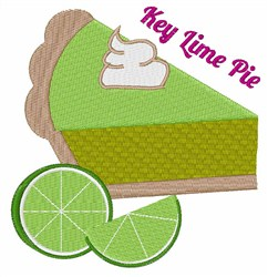 Key Lime Pie embroidery design