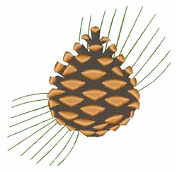 Pinecone embroidery design