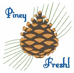 Piney Fresh embroidery design