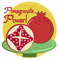 Pomegranate Power embroidery design