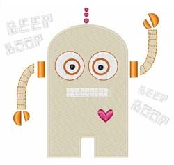 Beep Boop embroidery design