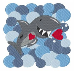 Love Shark embroidery design