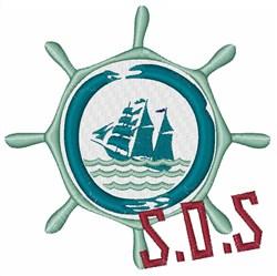 S.O.S. embroidery design