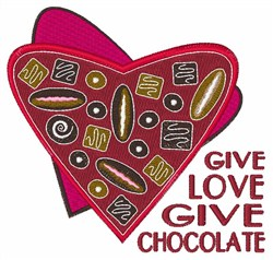 Give Chocolate embroidery design