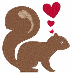 Valentine Squirrel embroidery design