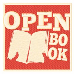 Open Book embroidery design