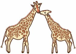 Two Giraffes embroidery design