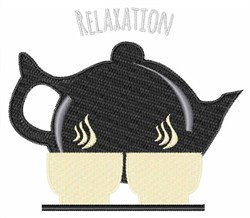 Relaxation Tea embroidery design