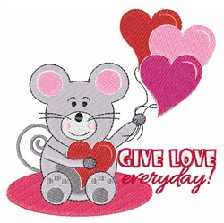 Give Love Everyday embroidery design