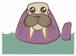 Walrus embroidery design