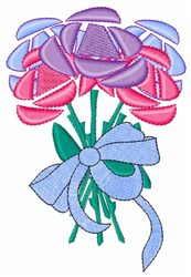 Ribbon Bouquet embroidery design