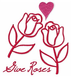 Give Roses embroidery design