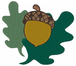 Acorn And Leaves embroidery design