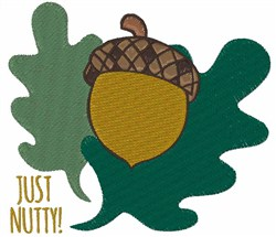 Just Nutty embroidery design