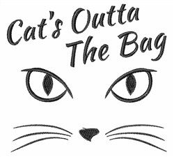Cats Outta The Bag embroidery design