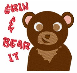 Grin And Bear It embroidery design