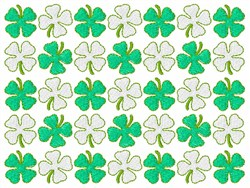 Clovers embroidery design